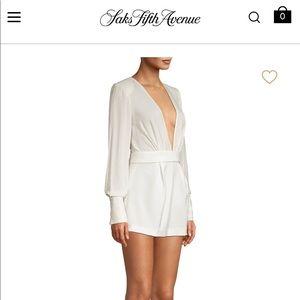 White Alexis shorts jumpsuit size medium